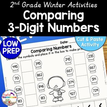 Comparing Snowglobes - Comparing 3 Digit Numbers - 2.NBT.4