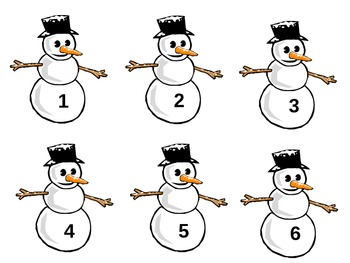 Comparing Snowmen (more than / less than)