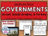 Southwest Asia's Governments - Israel, Saudia Arabia, and Turkey (SS7CG3)