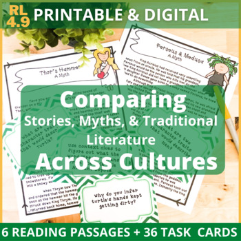 Comparing Stories, Myths, & Traditional Literature TASK CARDS + PASSAGES