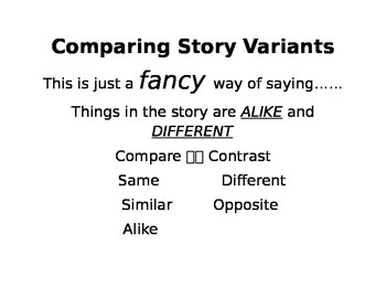 Comparing Story Variants