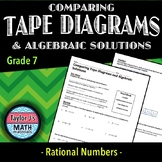 Comparing Tape Diagrams and Algebraic Solutions Worksheet