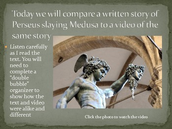 Comparing Text to Video Using Greek Mythology