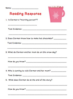 Comparing Texts Activity: Constructed Response to Literature with Text Evidence