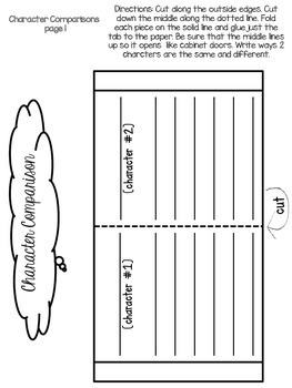 Comparing Texts and Characters - Interactive Notebook