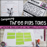 The True Story of the Three Little Pigs & The Three Little Pigs   Print & Easel