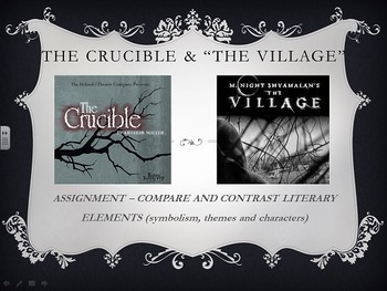 Comparing The Village with The Crucible