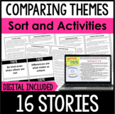 Comparing Themes Sort and Printable Activities | Reading Sort