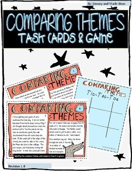 Comparing Themes Task Cards and Game