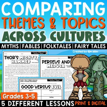 compare and contrast themes topics across cultures teaching theme