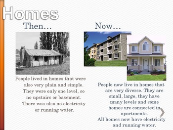 Comparing Then and Now Powerpoint