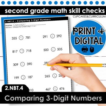 Comparing Three-Digit Numbers | Second Grade Math 2.NBT.4