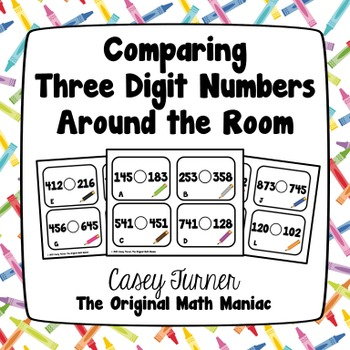 Comparing Three-Digit Numbers Around the Room