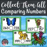 Comparing Three Digit Numbers Rainforest Animals Task Card