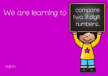 Comparing Three Digit Numbers Smartboard Activity