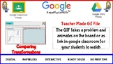 Comparing Transformations Teacher Made GIF File