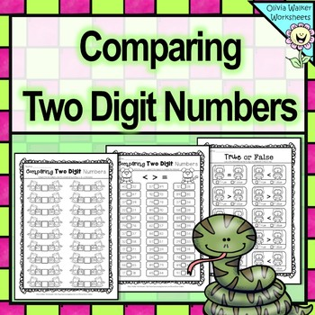 Comparing Two Digit Numbers / Greater Than / Less Than / D