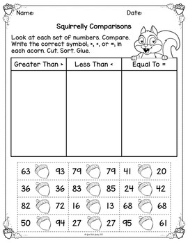 Comparing Two Digit Numbers Boom Cards and More