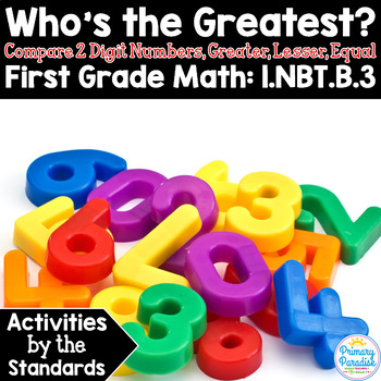 Comparing Two Digit Numbers, Greater, Lesser, Equal 1.NBT.B.3 Common Core