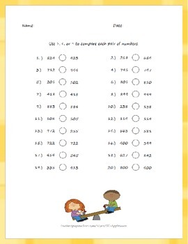 Comparing Numbers Pack - Two-Digit, Three-Digit, and Written Numbers