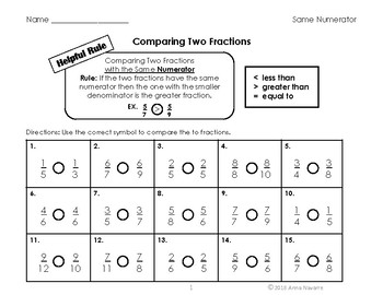 Comparing Two Fractions