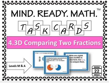 4.3D Comparing Two Fractions Task Cards TEKS 4.3D