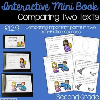 Comparing Two Texts Interactive Mini Book {RI.2.9}