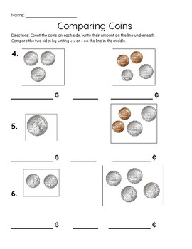 Comparing US Coins