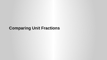 Comparing Unit Fractions - Third Grade