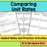 Comparing Unit Rates Notes