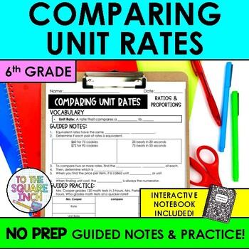 Comparing Unit Rates Teaching Resources Teachers Pay Teachers
