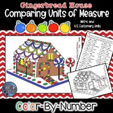 Comparing Units of Measure Color by Number - Gingerbread Math