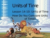 Comparing Units of Time