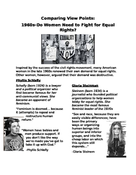 Comparing Viewpoints 1960s: Do women need to Fight for Equal Rights?