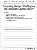 Comparing Washington and Lincoln