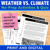 Comparing Weather and Climate | Comprehension Unit | Dista