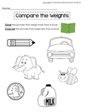 Comparing Weights-Kindergarten