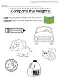 Comparing Weights-Kindergarten