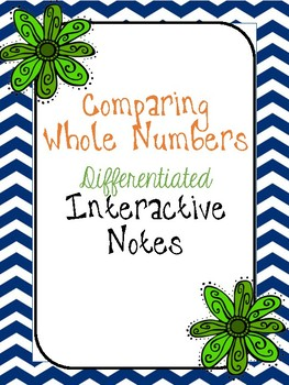 Comparing Whole Numbers Differentiated Interactive Notes