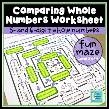 Comparing Whole Numbers Maze - 6 digits