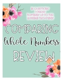 Comparing Whole Numbers Worksheet