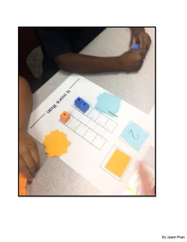 Comparing Work Mat using Snap Cubes