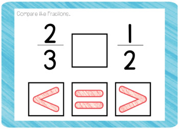 Comparing Written Fractions (Boom! Deck)