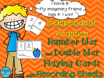 Comparing and Adding Numbers Card Games for Independent Practice
