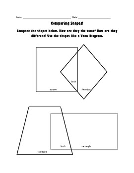 Comparing and Classifying Quadrilaterals