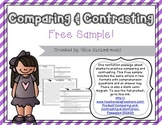 Comparing and Contrasting- Nonfiction Passages FREEBIE sample