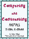 Comparing and Contrasting Animal Facts Task cards for students