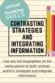 Comparing and Contrasting Biographies (checklist analysis)