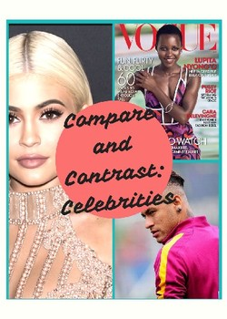 ESL/ELL Comparing + Contrasting Celebrities + Writing Assignment + Evaluation