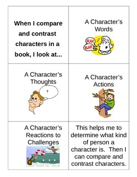Comparing and Contrasting Characters Anchor Chart - Student Copy